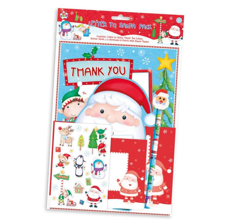 Letter To Father Christmas Pack Santa Eraser Pencil Stickers Thank You Envelopes 5012128554209 Ebay